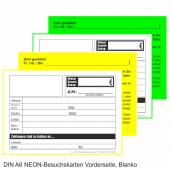 NEON-Mitteilungskarte DIN A6